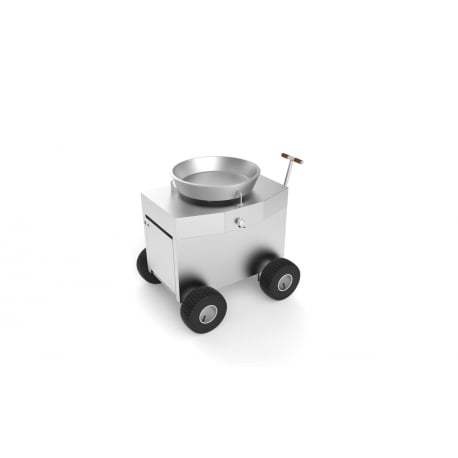 Barbacoa de gas WOK Brennwagen