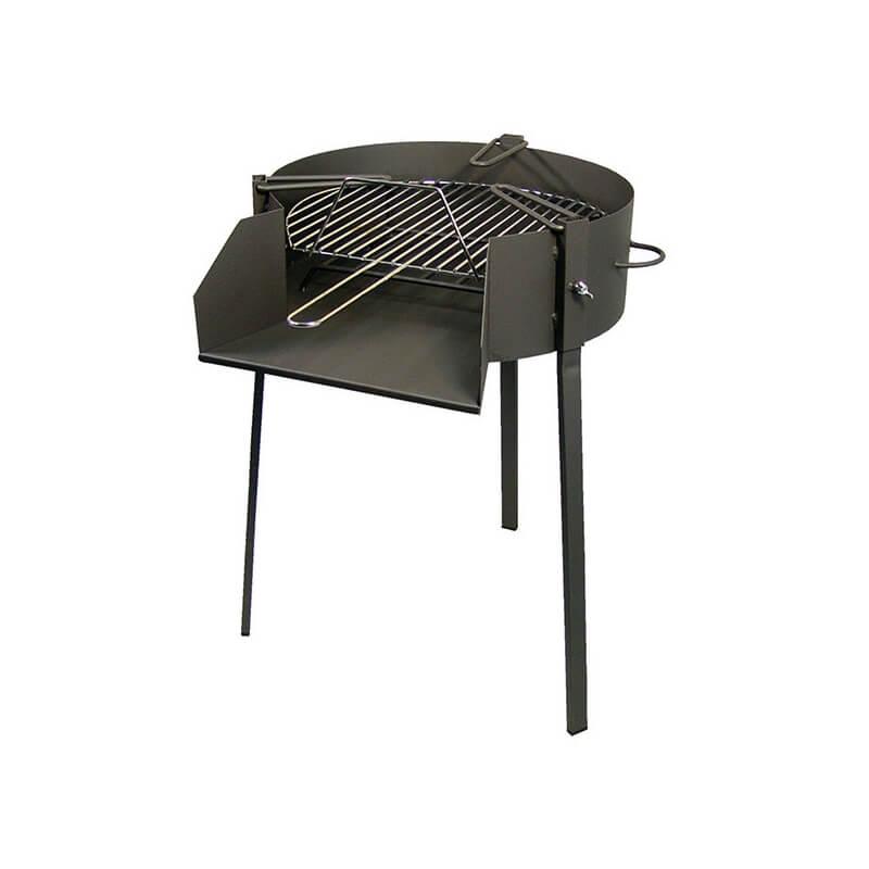 Barbacoa de carb n le a y soporte paellero de barbecook - Barbacoas y hornos de lena ...