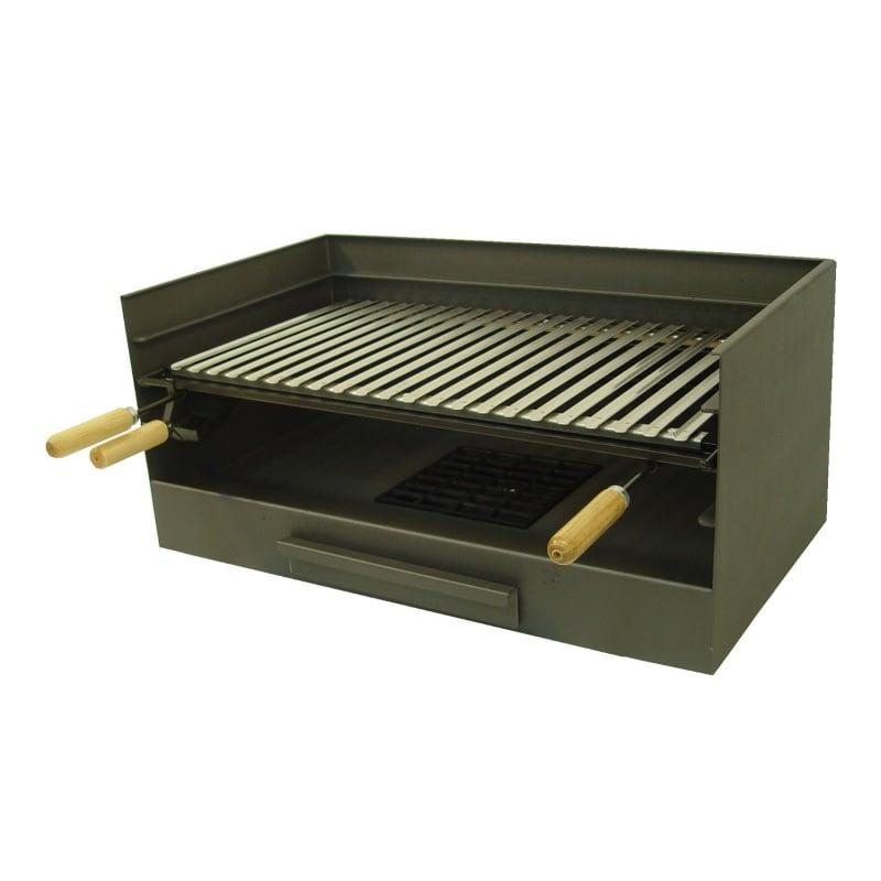 Barbacoa de carb n 71514 caj n y parrilla inox el zorro for Carbon para barbacoa