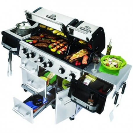 Barbacoa de gas Imperial XL de Broil King Abierta