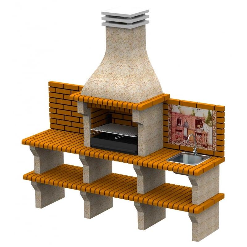Barbacoa de obra moleta 3bpf incluye fregadero - Medidas barbacoa de obra ...