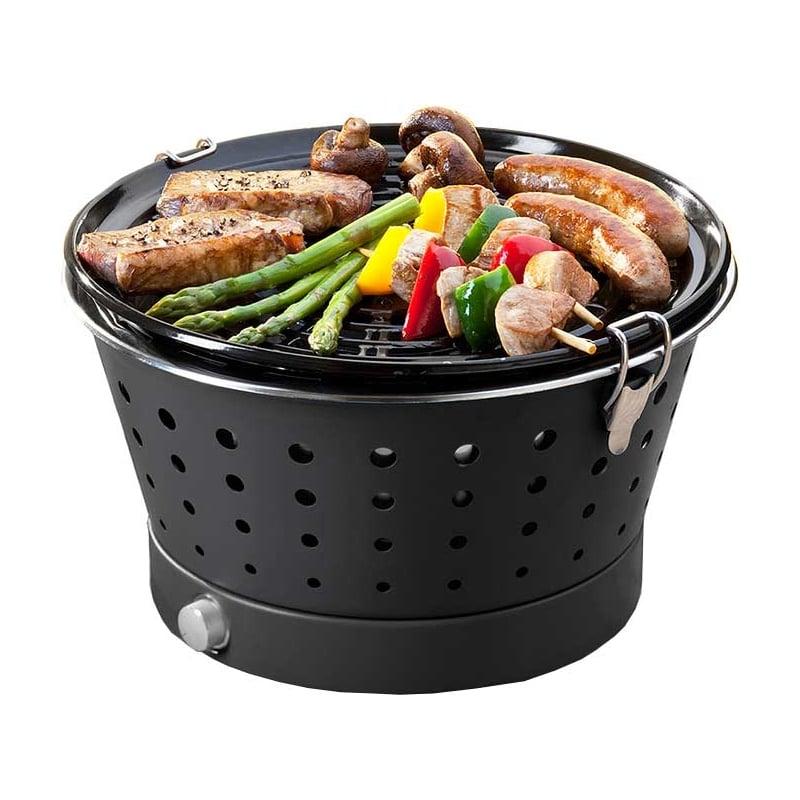 Barbacoa de carb n grillerette negra for Carbon para barbacoa