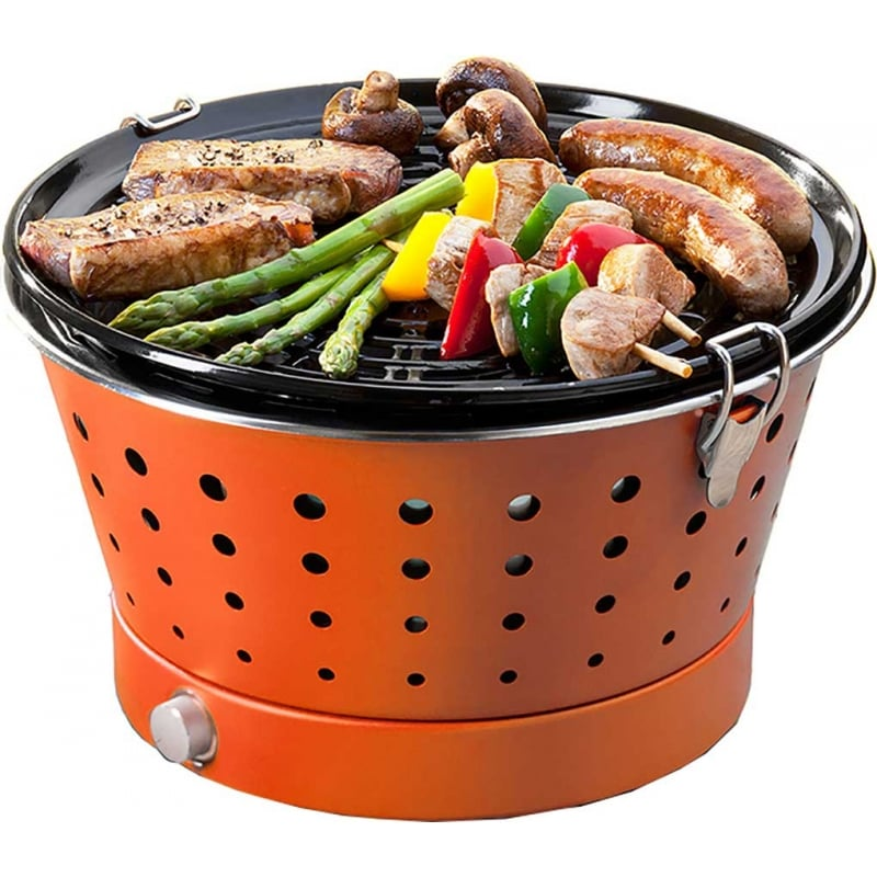 Barbacoa de carb n grillerette naranja - Carbon para barbacoa ...