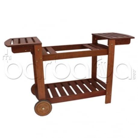 Carro de madera para planchas de gas simogas for Planchas de madera para paredes