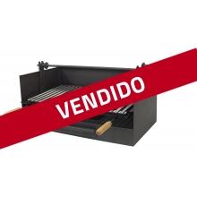 Barbacoa de carbón 71517L con Cajón y Elevador Inox de Imex el Zorro LIQUIDACIÓN