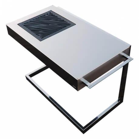 Akan Force Luxury Barbacoa de diseño para carbón en acero inoxidable.
