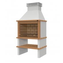 Barbacoa de Obra Paella XL, color ladrillo marrón