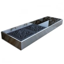 Krakatoa Elegance Barbacoa de diseño para carbón en acero inoxidable.