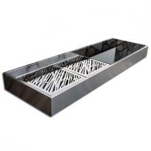 Krakatoa Luxury Barbacoa de diseño para carbón en acero inoxidable.