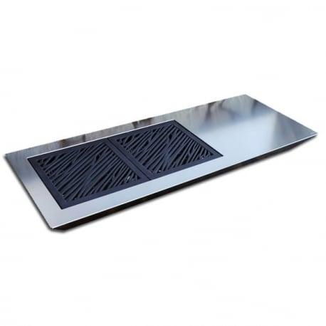 Stromboli Elegance Barbacoa de diseño para carbón en acero inoxidable Fesfoc