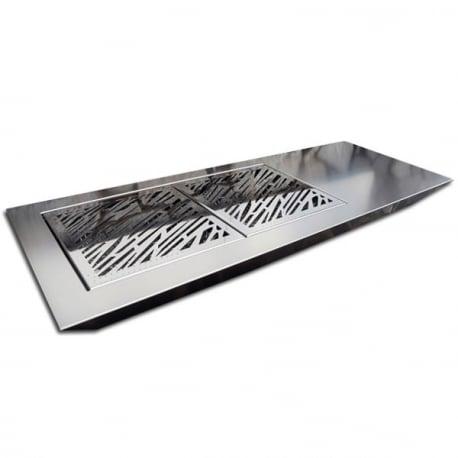Stromboli Luxury Barbacoa de diseño para carbón en acero inoxidable de Fesfoc