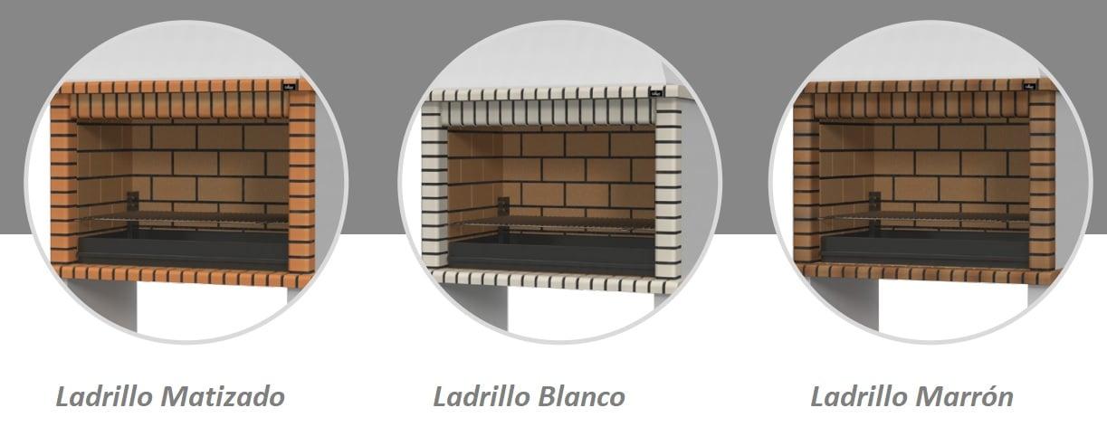 Colores ladrillos barbacoa Paella XL