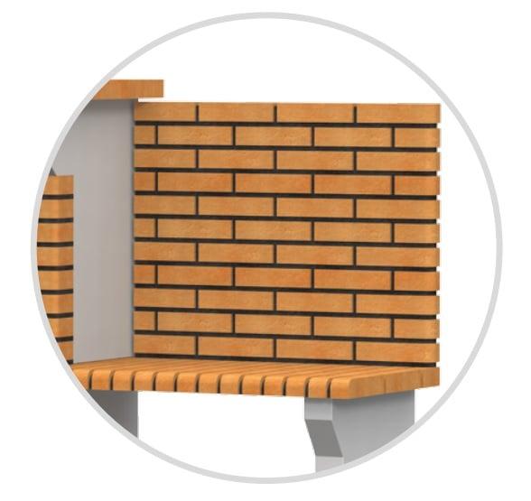 Muro de ladrillo para barbacoas de obra